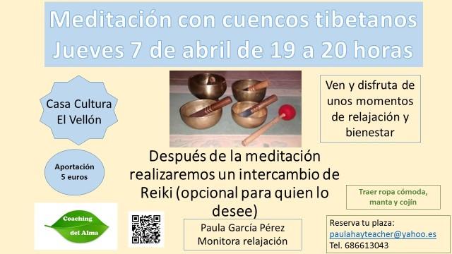 Meditación con cuencos tibetanos El Vellón abril