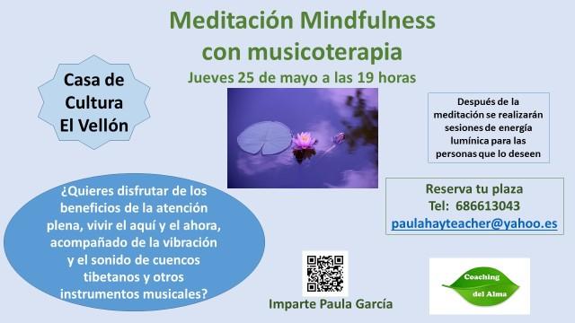 Mindfulness con musicoterapia El Vellón